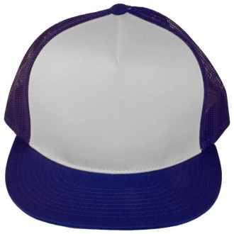 Casquette Filet Yupoong - Bleu royal / Front blanc