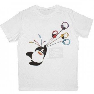 T-shirt Audio-Apparel - Panda - White