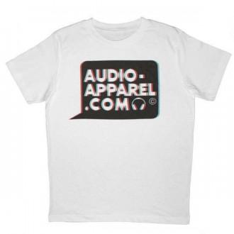 T-shirt Audio-Apparel - 3D Logo bulle - White