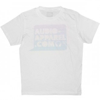 T-shirt Audio-Apparel - Logo bulle trame - White