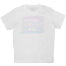 Audio-Apparel - Logo bulle trame - White