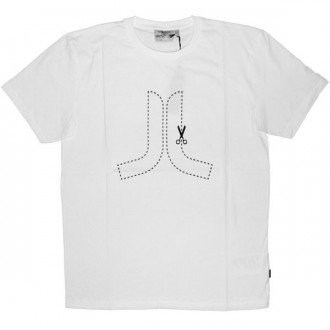 WESC T-Shirt - Cut Here Icon - White