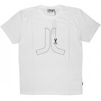 WESC T-Shirt - Cut Here Icon - White