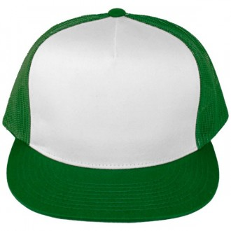 Casquette Filet Yupoong - Vert / Front blanc