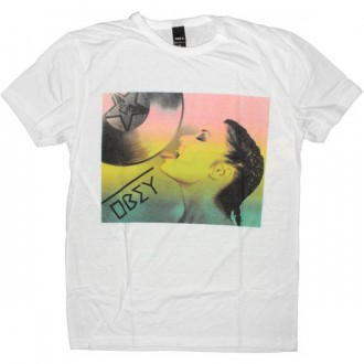 OBEY T-shirt - Dirty Deb - Natural white