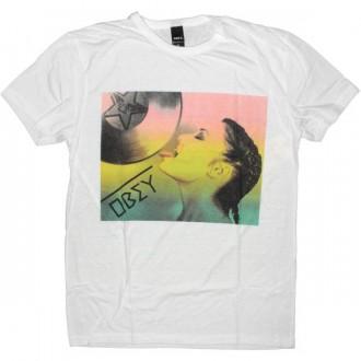 OBEY T-shirt - Dirty Deb - Natural white