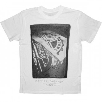 OBEY T-shirt - Stencil Photo - White