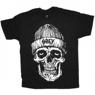 OBEY T-shirt - Beanie skull - Black