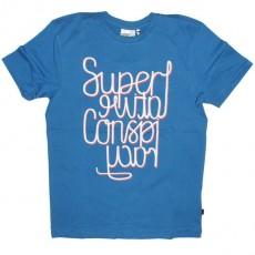WESC T-Shirt - Superlative Mirror - Blue Pacific