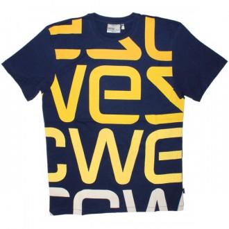 WESC T-Shirt - Wesc Logo Biggest - Blue Dephts