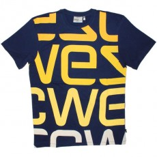 WESC T-Shirt - Wesc Logo Biggest - Blue Dephts
