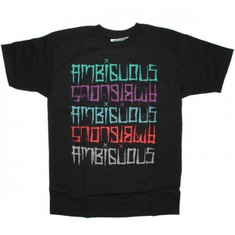 Ambiguous T-shirt - Typester - Black