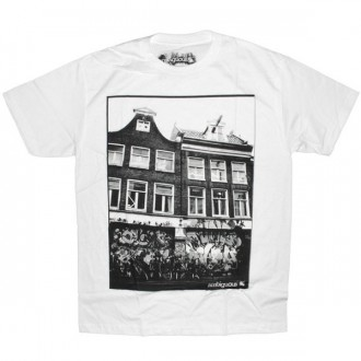 Ambiguous T-shirt - Bike house - White
