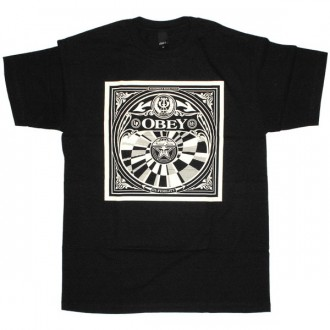 OBEY Basic T-shirt - Velvet tone - Black