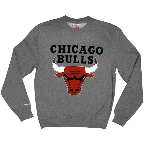Sweat Mitchell   Ness - Standard Team Logo - Chicago Bulls - Grey b4c49cfd55ec
