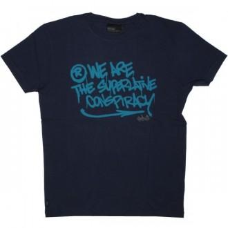 WESC T-shirt - Stash WeAre - Medium Blue