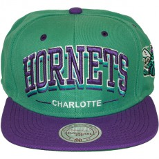 Casquette Snapback Mitchell & Ness - NBA Triple Arch - Charlotte Hornets