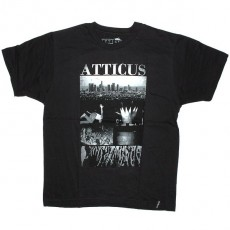 Atticus T-shirt - Scaped slim tee - Black