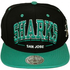 Casquette Snapback Mitchell & Ness - NHL Triple Arch - San Jose Sharks