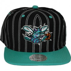 Casquette Snapback Mitchell & Ness - NBA Double Pinstripe - Charlotte Hornets