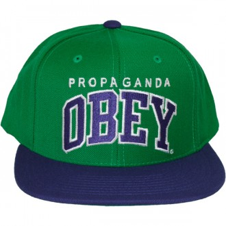 Casquette Snapback Obey - Throwback - Green/Royal blue