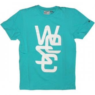 WESC T-shirt - Overlay - Mauritius Blue