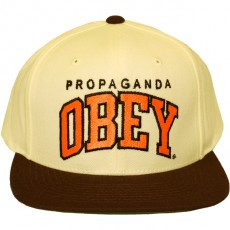 Casquette Snapback Obey - Throwback - Natural/Brown