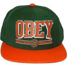 Casquette Snapback Obey - Obey Athletics - Green/Orange