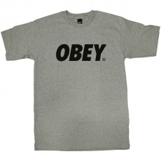 T-shirt Obey - Obey Font - Heather Grey