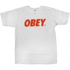 T-shirt Obey - Obey Font - White