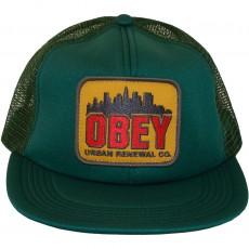 Casquette Trucker Obey - Urban Renewal - Dark Spruce