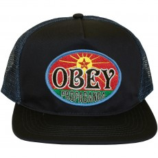 Casquette Trucker Obey - Rising Sun - Dusty Navy