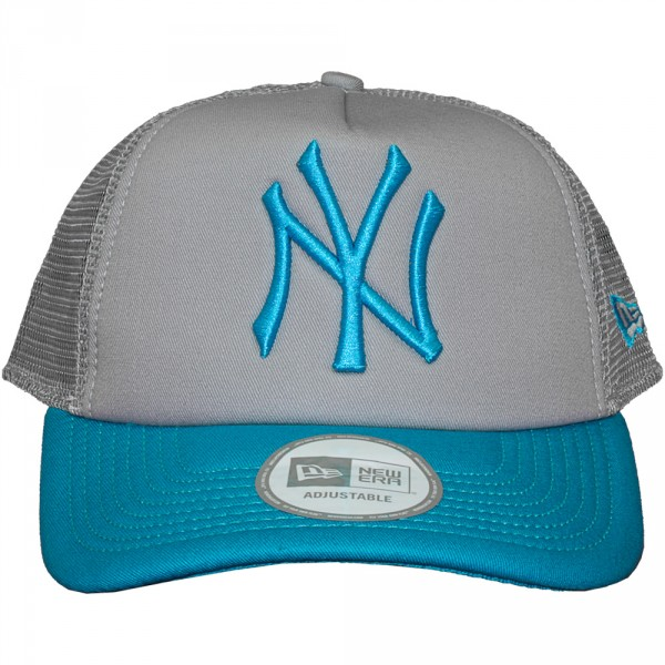 casquette trucker new era mlb poptonal new york yankees grey bleu jewel. Black Bedroom Furniture Sets. Home Design Ideas