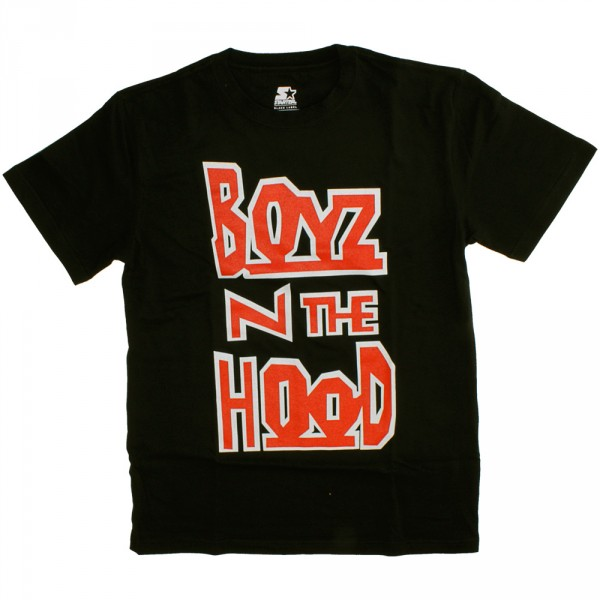 T Shirt Starter Logostack Boyz N The Hood Black