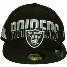 Casquette Fitted New Era - 59Fifty NFL On Field Draft - Oakland Raiders