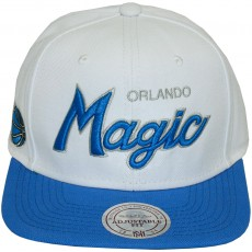 Casquette Snapback Mitchell & Ness - NBA Throwback All White - Orlando Magic