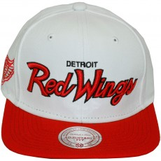Casquette Snapback Mitchell & Ness - NHL Throwback All White - Detroit Red Wings