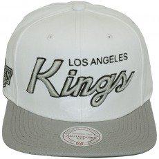 Casquette Snapback Mitchell & Ness - NHL Throwback All White - Los Angeles Kings