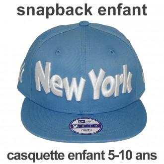 Casquette Snapback Enfant New Era - 9Fifty Youth MLB Clean Wordmark - Blue - New York Yankees