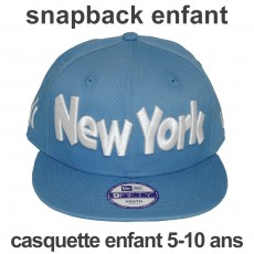Casquette Snapback Enfant New Era - 9Fifty Youth MLB Clean Wordmark - Blue - New York Yankees