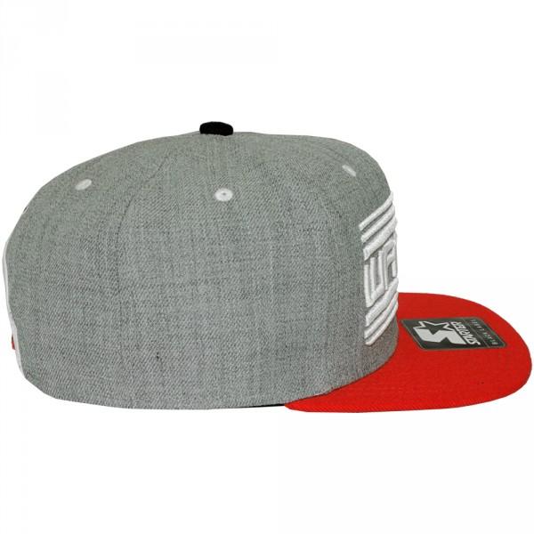 casquette snapback wati b x starter wati b logo grey red. Black Bedroom Furniture Sets. Home Design Ideas
