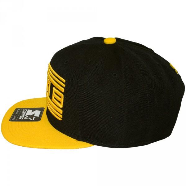 casquette snapback wati b x starter wati b logo black yellow. Black Bedroom Furniture Sets. Home Design Ideas