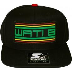 Casquette Snapback Wati B x Starter - Wati B Logo - Black/Jamaica