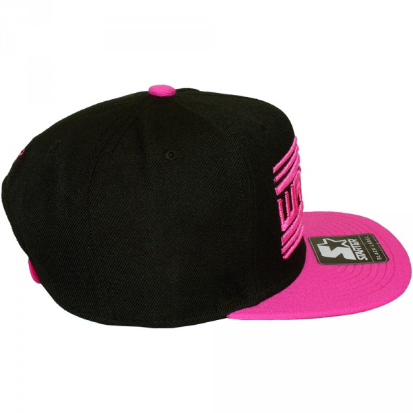 casquette snapback wati b x starter wati b logo black pink. Black Bedroom Furniture Sets. Home Design Ideas