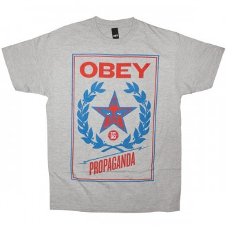 OBEY Basic T-shirt - Classic Crest - Heather Grey
