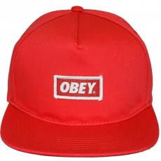 Casquette Snapback Obey - New Original Snapback - Red