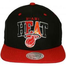 Casquette Snapback Mitchell & Ness - NBA Black Tri Pop - Miami Heat