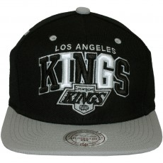 Casquette Snapback Mitchell & Ness - NHL Black Tri Pop - Los Angeles Kings