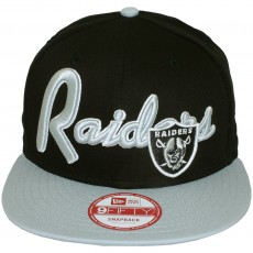 Casquette Snapback New Era - 9Fifty NFL Super Script - Oakland Raiders