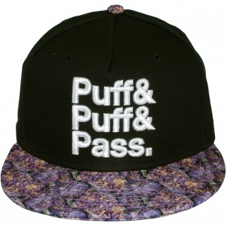 Casquette Snapback Cayler And Sons - Puff Puff Pass Cap - Black/Purple Haze